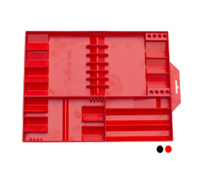 Closeup of Tool Sorter Screwdriver Organizer - Red