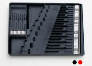 closeup of Tool Sorter Wrench Organizer - Black